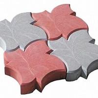 тротуарная плитка кленовый лист омск