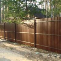 забор из профнастила омск